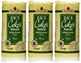 Forrelli Rice Cakes Natural 3.1oz (Pack of 3) - Gluten Free & Vegan