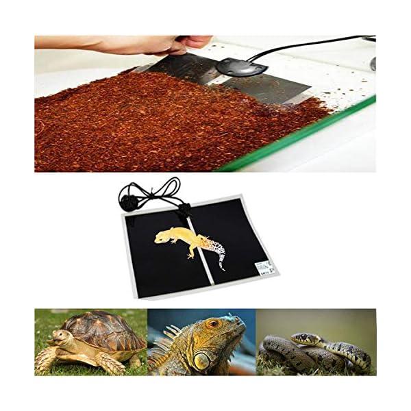 ATian Reptile Heating Pad, Reptile Tank Warmer with Temperature Controller Pet Heat Mats 6