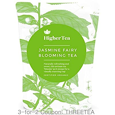 Jasmine Fairy Blooming Tea 3 Oz, By Higher Tea. Beautiful Blooms Unfold to Make Drinking Healthy Tea a Spectacular Experience (8 Hand Sewn Blooms)