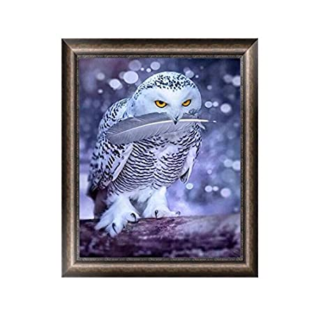 Khfun 5D DIY Animal Cute Owl Diamond Embroidery Painting Cross Stitch Home Decor Crafts (#6 11.81 x 15.75)