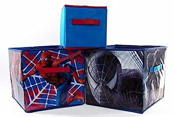 Delightful Marvel Spider Man 3 Spiderman Storage Bins Set Of 3 Boxes By Idea Nuova