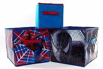 Marvel Spider Man 3 Spiderman Storage Bins Set Of 3 Boxes By Idea Nuova
