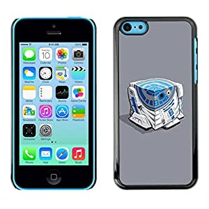 Paccase / SLIM PC / Aliminium Casa Carcasa Funda Case Cover - Character Blue White Beeping Movie - Apple Iphone 5C