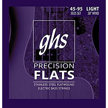 ghs strings 4 string bass precision flats stainless steel flatwound 38 winding. Black Bedroom Furniture Sets. Home Design Ideas