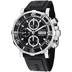 Paul Picot C-Type Yachtman 3 Chronograph Men's Black Dial Automatic Watch P1127NBLS.SG.4000.3614