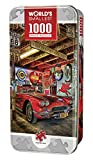 1000 piece puzzles corvette - MasterPieces World's Smallest High Performance - Vintage Sports Car 1000 Piece Tin Box Jigsaw Puzzle by Linda Berman