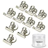 NEEGO Magnetic Clips 10pcs Strong Fridge Magnet Hook Clips Perfect Magnetic Clip Kitchen Refrigerator Freezer Scratch-resistant Magnets Whiteboard Magnets for Home Office School