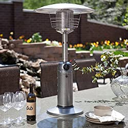 AZ Patio Heater Portable Gunmetal Tabletop Heater