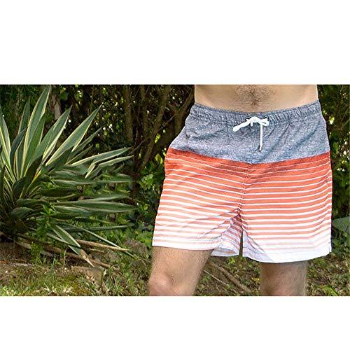 Boardshorts Men De Estampado Playa Cortos Hombre Sportwear Traje Ropa Rayas Baño Vacaciones Ocio Surfing Pantalones Oc Naranja Surf Verano Para qr5Art