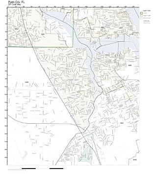 Amazon Com Zip Code Wall Map Of Palm City Fl Zip Code Map Not