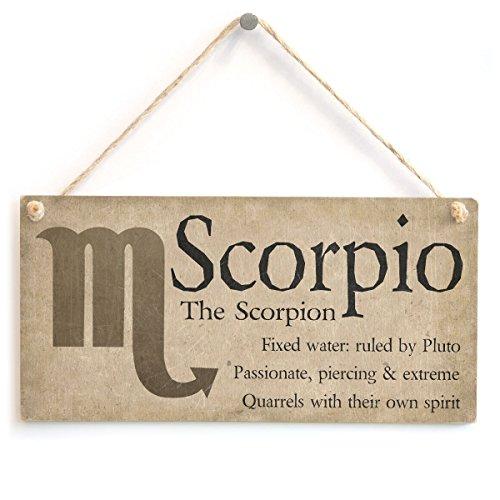 Meijiafei Scorpio The Scorpion - Beautiful Spiritual Gift Astrology Sign of The Zodiac Plaque 10