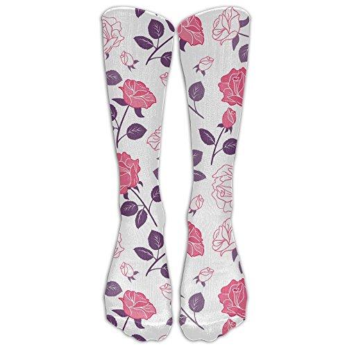 Youth Ash Gym (Rose Flower Casual Long Socks Women & Men Warmer High Socks For Sports Gym Running Hiking Travel Home Stockings)