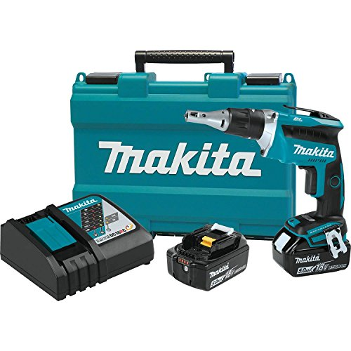 Makita XSF03T 18V LXT Lithium-Ion COMPACT Brushless Cordless Drywall Screwdriver Kit 5.0Ah