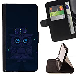 For Samsung Galaxy S3 Mini I8190Samsung Galaxy S3 Mini I8190 Cute Funny Night Owl Beautiful Print Wallet Leather Case Cover With Credit Card Slots And Stand Function