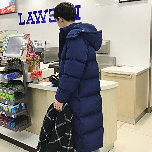 Xuanku Winter Bread Down Jacket Couple Cotton Dress Long Section Thick Knee Jacket Jacket Jacket Women Navy