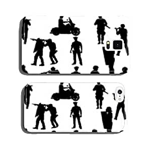 The set 0f 12 vector policeman silhouette cell phone cover case iPhone6