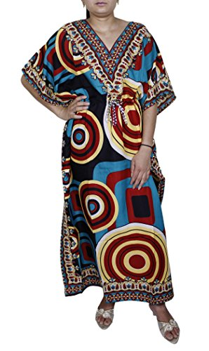 Women's Long Print Kaftan Abaya Short Sleeve Blouse Beach Fashion Summer Dress,One (Arab Woman Outfit)