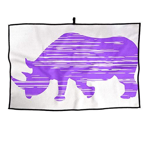 Hand Jin Golf Clubs Cleaning Towel 100% Microfiber Unicorn Rhino Golf Towel 15