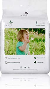 ECO BOOM Baby Bamboo Biodegradable Disposable Diapers Infant Eco Friendly Nappies Natural Soft Hypoallergenic Diapers for Baby Size Large 70 Count-Pack