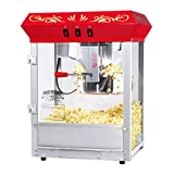 Great Northern Popcorn Company 6129 All Star GNP-850 Red Top Classic Style Top Popper Machine, 8 oz, Red