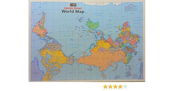 Upside Down World Map: 9781865001111: Amazon.com: Books