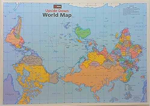 Upside Down World Map 9781865001111 Amazon Com Books
