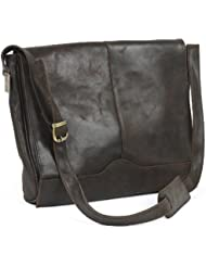 Claire Chase Messenger Satchel, Distressed Brown, One Size