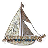 He Shall Direct Your Paths Proverbs 3:6 25 x 25 Wood and Metal Wall Art Plaque Decoration