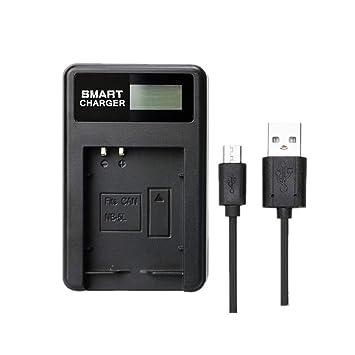 Cargador de batería Cargador Solo NB-5L NB5L LCD para Canon ...