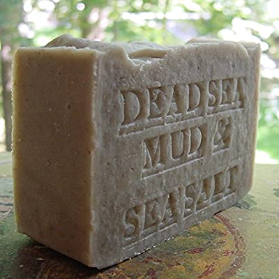 Dead Sea Mud Soap with Shea Butter and Dead Sea Salt (Exfoliate) Skin Care Handmade Fragrance Free . All Natural