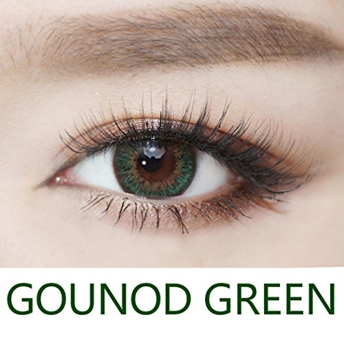 Rtiopo Cosplay Large Diameter Contacts Lens Eye Makeup Unisex 5 Colors Available for Both Men & Women (Green)