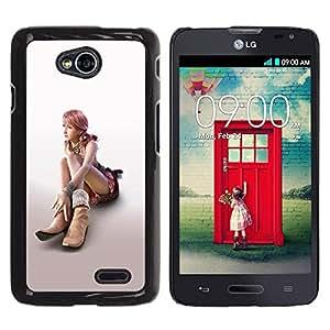 Be Good Phone Accessory // Dura Cáscara cubierta Protectora Caso Carcasa Funda de Protección para LG Optimus L70 / LS620 / D325 / MS323 // Sexy Girl