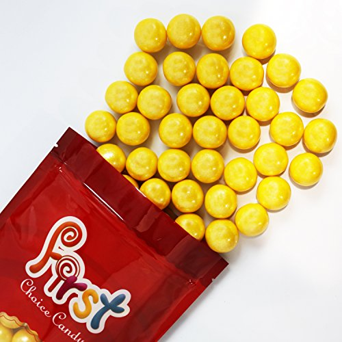 FirstChoiceCandy Yellow Shimmer 1 Inch Gumballs 1 Pound Bag