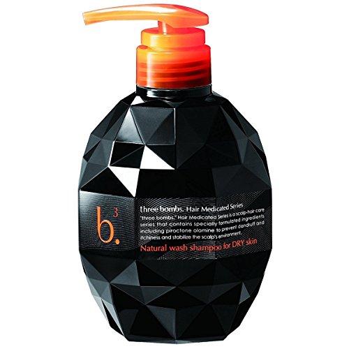 Three Bombs   Scalp Care Shampoo   Natural wash shampoo for DRY skin 450ml