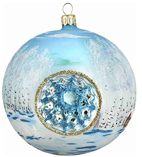Joy To The World Russian Troika Reflector Ball Ornament by
