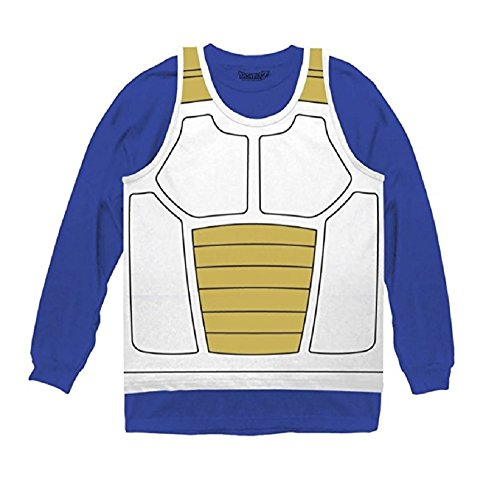 Dragon Ball Z Vegeta Saiyan Armor Costume Cosplay Shirt (Small)]()