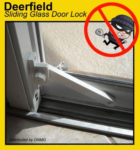 Deerfield Sliding Glass Door Deadbolt Lock (Aluminum Frame   White)   Door  Dead Bolts   Amazon.com