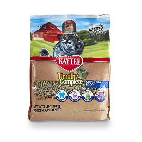 Chinchilla Timothy Food Complete - Kaytee Timothy Hay Complete Chinchilla Food, 3-lb bag