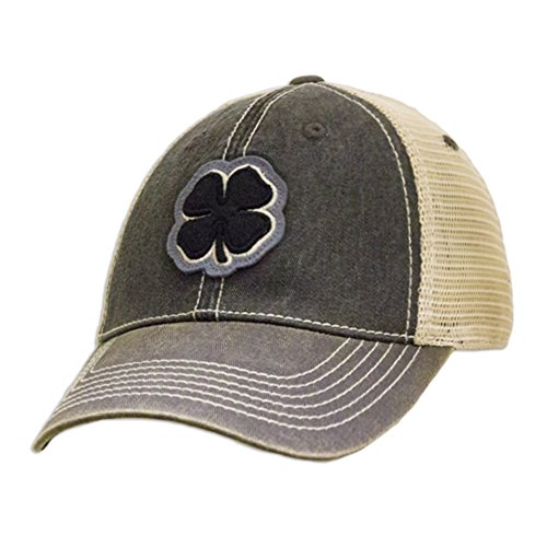 (Black Clover Brand Two Tone Vintage #6 Black/Stone/Grey Hat)