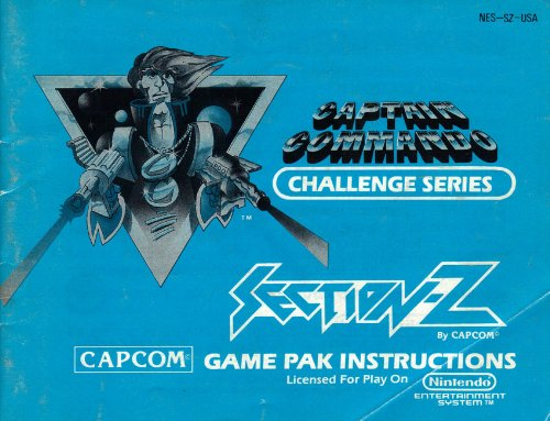 Captain Commando Challenge Series - Section-Z NES Instruction Book - NO GAME - Nintendo Manual only