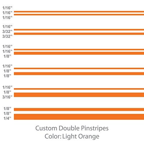 Double Pinstripes (Light Orange) 1/8