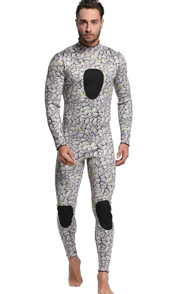 3ミリメートルメンズウェットスーツ全身シャムダイビングスーツ防寒保温/保湿用サーフスーツ B07PJ972LQ Small  Small