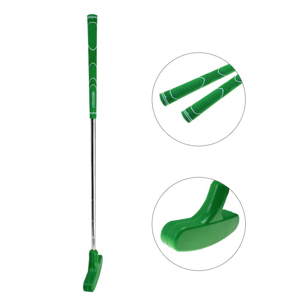 CRESTGOLF 29 inches Double-Way Rubber Golf Putter ,Regular,Right&Left Handed (green) by Crestgolf