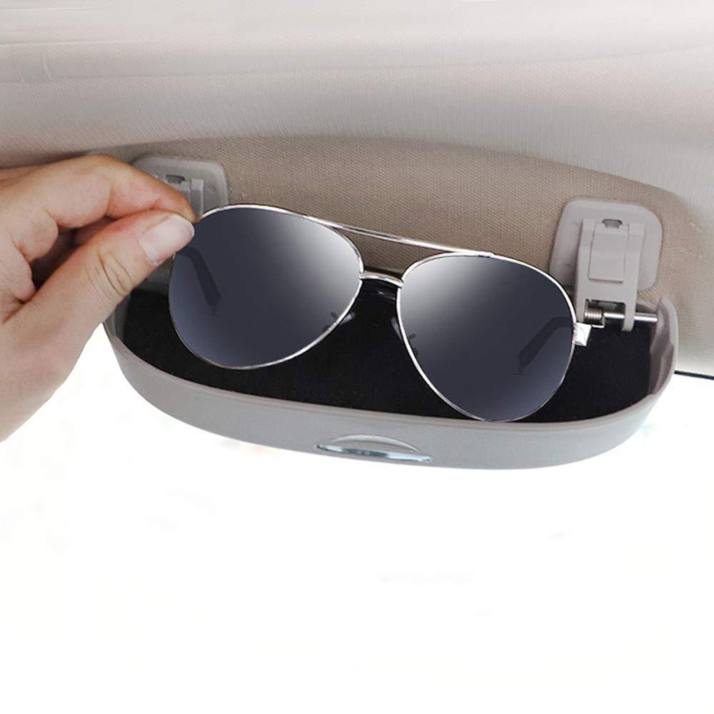 Grau Auto Sonnenbrille Box Sonne Brille Halter Brillenetui Brillenhalter Zubeh/ör f/ür A1 A3 A4 B9 A5 A6 A7 A8 Q3 Q7 Q5 2019