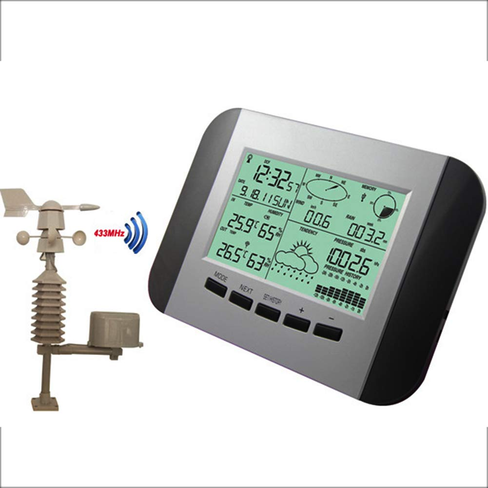 AXELEL Wireless Indoor Outdoor Thermometer Digital Weather Station with Outdoor Sensor Shows Temperature & Temp. Trend, Clock, Calendar, Connectable to Computer