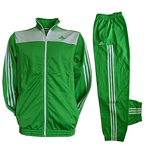 adidas M60656 - Chándal, poliéster, Talla M, Color Verde y Blanco ...