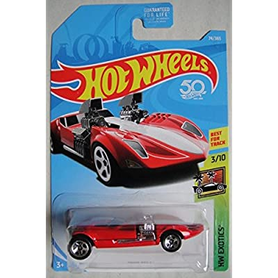 HOT WHEELS EXOTICS 3/10, RED TWIN MILL 74/365 50TH ANNIVERSARY CARD: Toys & Games