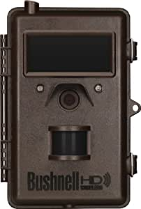 Bushnell 8MP Trophy Cam HD Wireless LED Trail Camera with Night Vision, Black