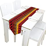 ALAZA Animal Giraffe African Tribal Table Runner Placemat 13 x 70 inches for Wedding Party Outdoor Kitchen Coffee Table Home Decoration
