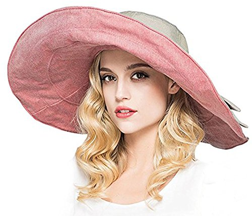 Shapeable Large Brim Reversible Floppy Sun Hat UPF 50+ Beach Sun Bucket Hat